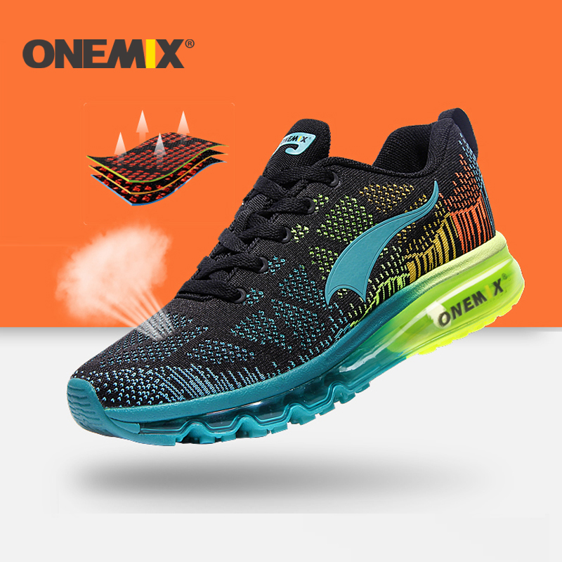 ONEMIX 2016 Cushion Men's Running Shoes Breathable Runner Athletic Sneakers Men Outdoor Sports Walking Shoes Free Shipping