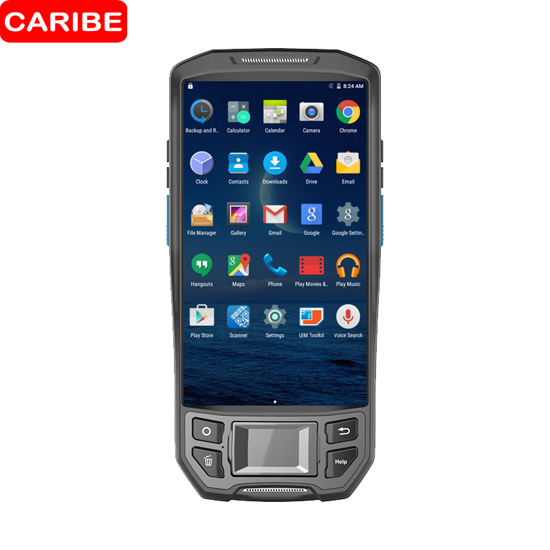 CARIBE Portable Android PDA 1D 2D Mobile Data Collector Terminal 5 Screen 16G ROM/Wifi/B ...