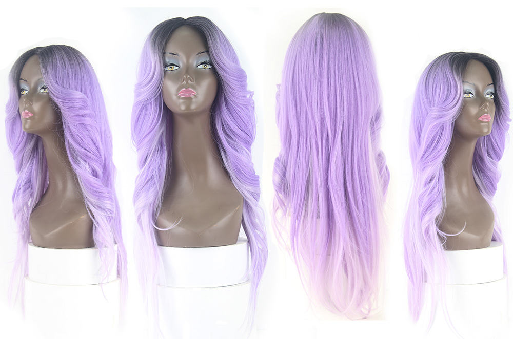 lace wig purple