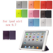 New PC Leather Case for Apple iPad air new 9.7 Fashion Smart Cover + translucent back ipad air1 9.7(2017-2018)