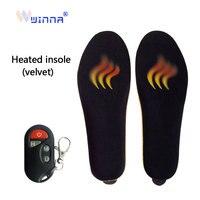 1800mah palmilhas de aquecimento elétrico com controle remoto sem fio inverno quente sapato almofadas palmilhas aquecidas para esqui caminhadas ciclismo