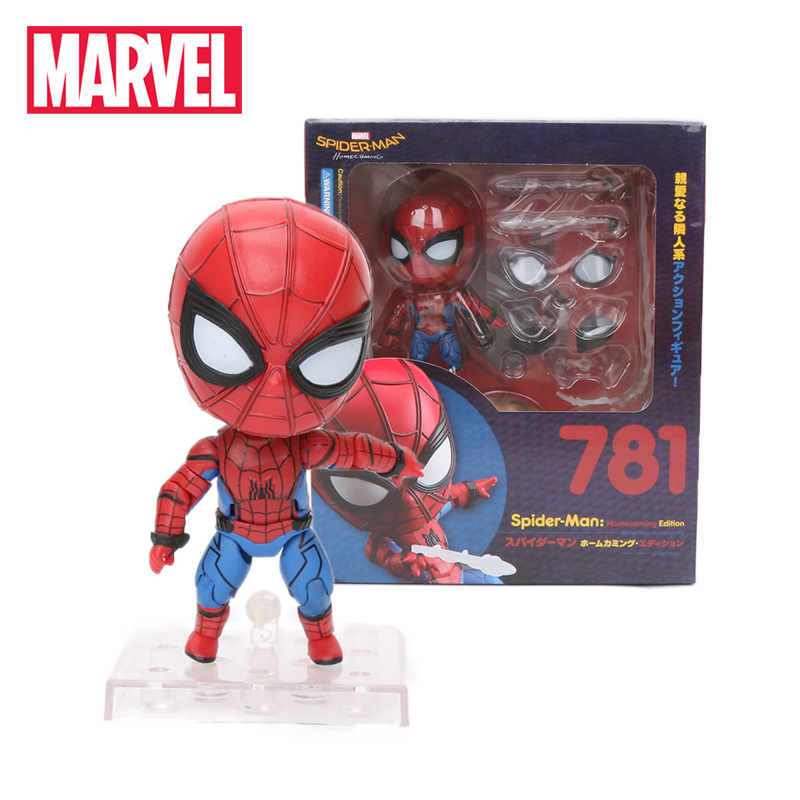 9cm Marvel Toys Avengers Spider-Man Homecoming PVC Action Figures Nendoroid Spiderman Iron Spider Thor Collectible Model Dolls(China)