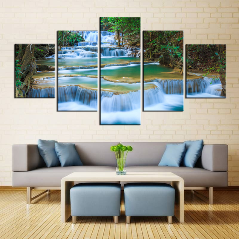 Peaceful Waterfall Canvas Prints 5