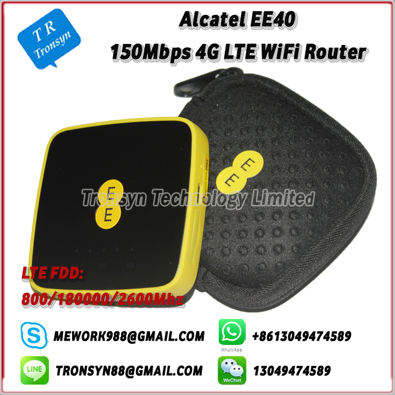 150Mbps LTE 4G Modem WiFi Router With Sim Card Slot Support LTE FDD B3 B7 B20 For Alcatel EE40 hot sale new original unlock 150mbps zte mf910 4g wifi router with sim card slot support lte fdd b3 b7 b8 b20