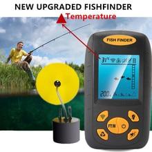 Portable Sonar Fish Finder Profondeur Sous-Marine Pêche Caméra Sondeur Alarme Capteur Sondeur 100 m température echo sondeur