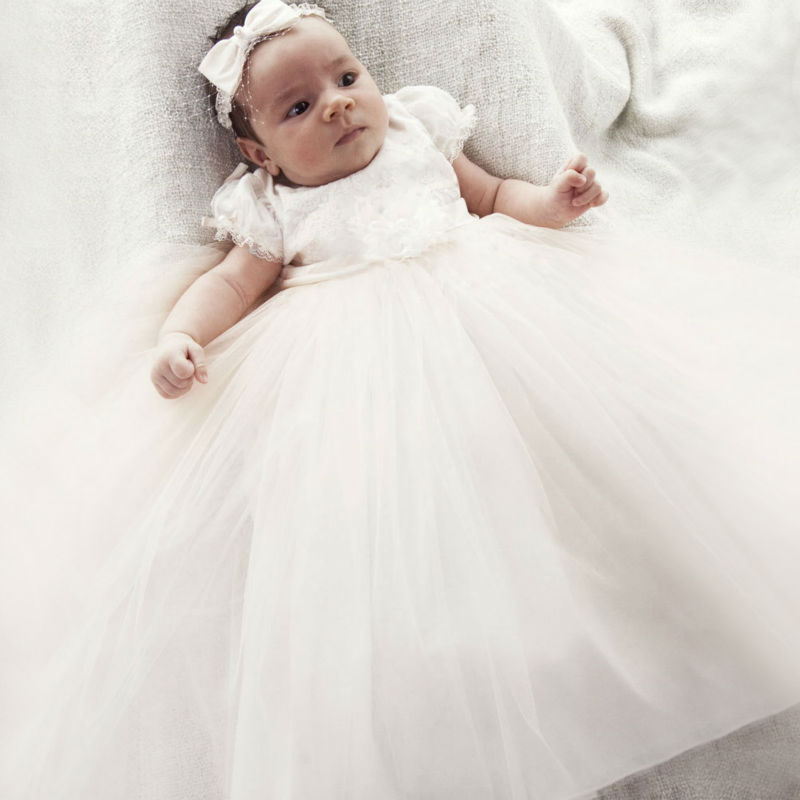 White vestido infantil Straight Baby Girl Clothes Suitable first communion dresses for girls Long Kids Dress for Baptism Clothes new spring autumn cotton long sleeved dress baby girls dresses for party floral costume for kids clothes vestido infantil t