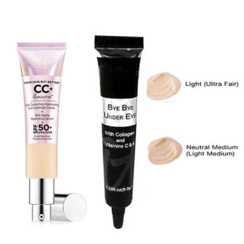 Tu piel pero mejor CC + iluminación de crema 32 ml y adiós corrector de ojos antiedad Luz de cobertura completa/medio