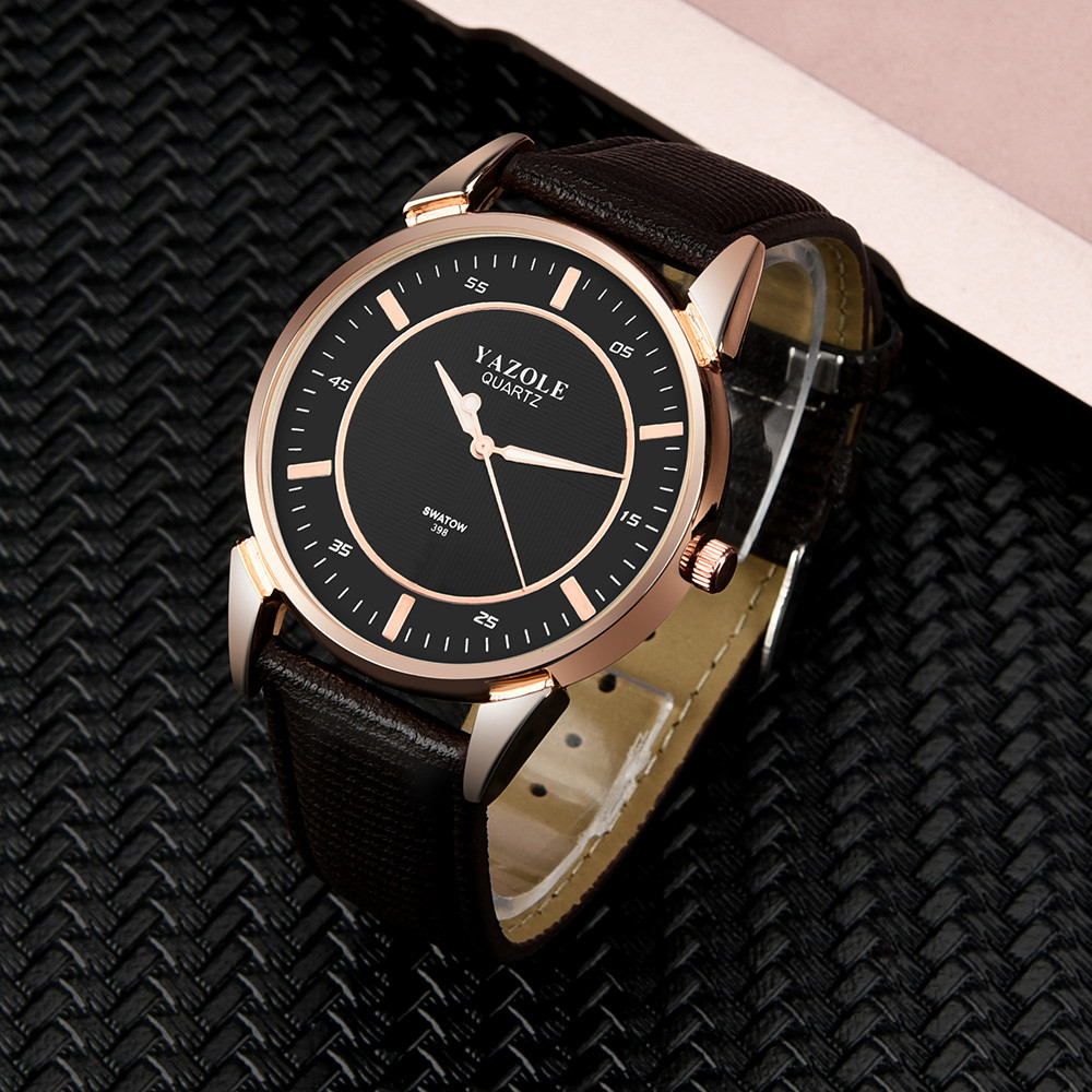 man watch Luxury Men's Watch Stainless steel Leather Band Analog Quartz Wrist Watch 2019 Hot Sale fashion Men Reloj Mujer
