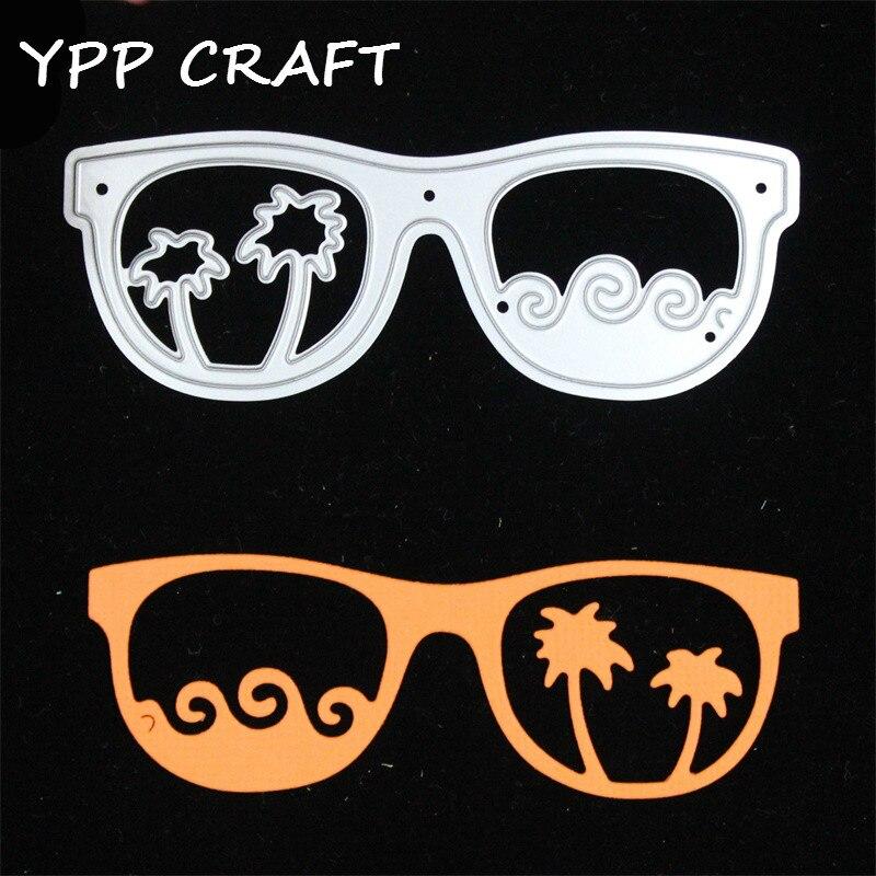 YPP CRAFT Glasses Metal Cutting Dies for DIY Scrapbooking/Card Making/Kids Fun Decoration Supplies