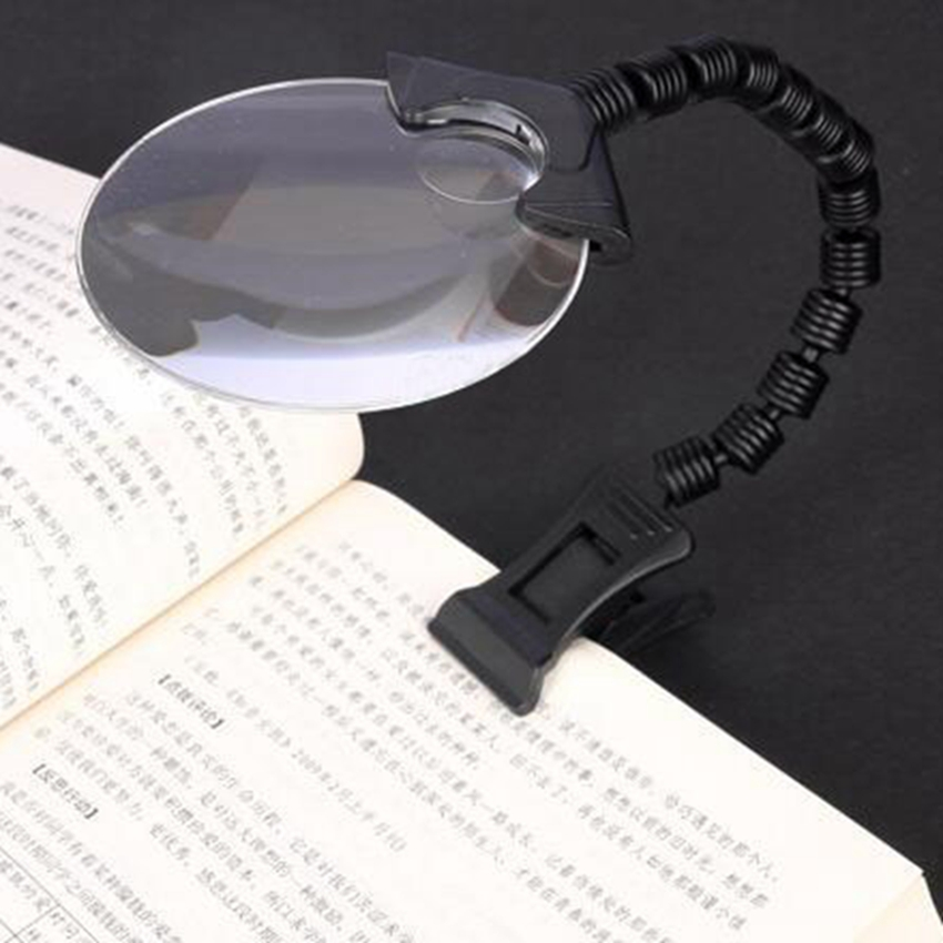 2.5X 90mm Magnifier Clip Table Magnifier Magnifier Large Magnifying Glass for Reading