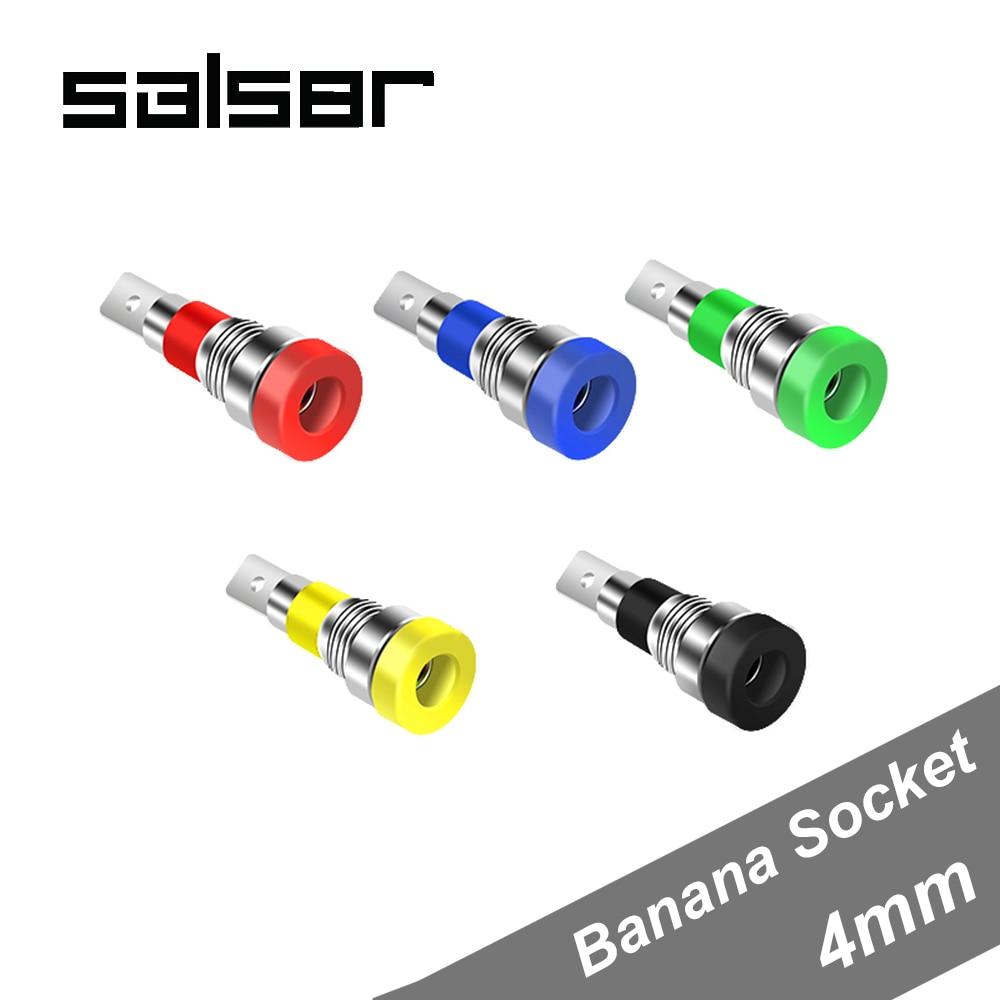 2 Step Type 4mm Binding Post Banana Jack Socket Panel Mount Test Probe Red Black
