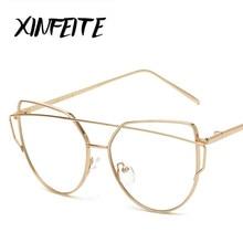 XINFEITE High Quality 2017 Optical Big Frame Computer Glasses Women Anti Radiation HD Eyewear Retro Eyeglass Accessories Oculos