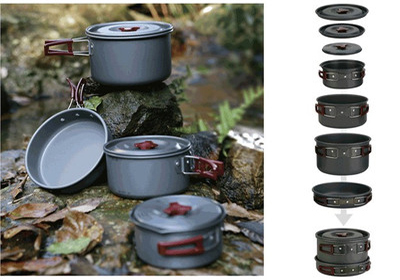 Fire Maple Camping Cookware  4-5 Persons Pot Sets  Frying Pan Cauldron Medium Pot Pannikin Camping Cooking Kit Picnic FMC-206