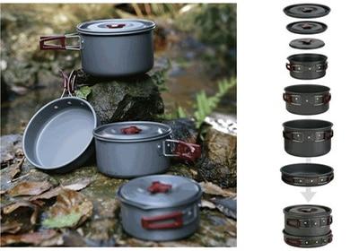цена на Fire Maple Camping Cookware 4-5 Persons Pot Sets Frying Pan Cauldron Medium Pot Pannikin Camping Cooking Kit Picnic FMC-206