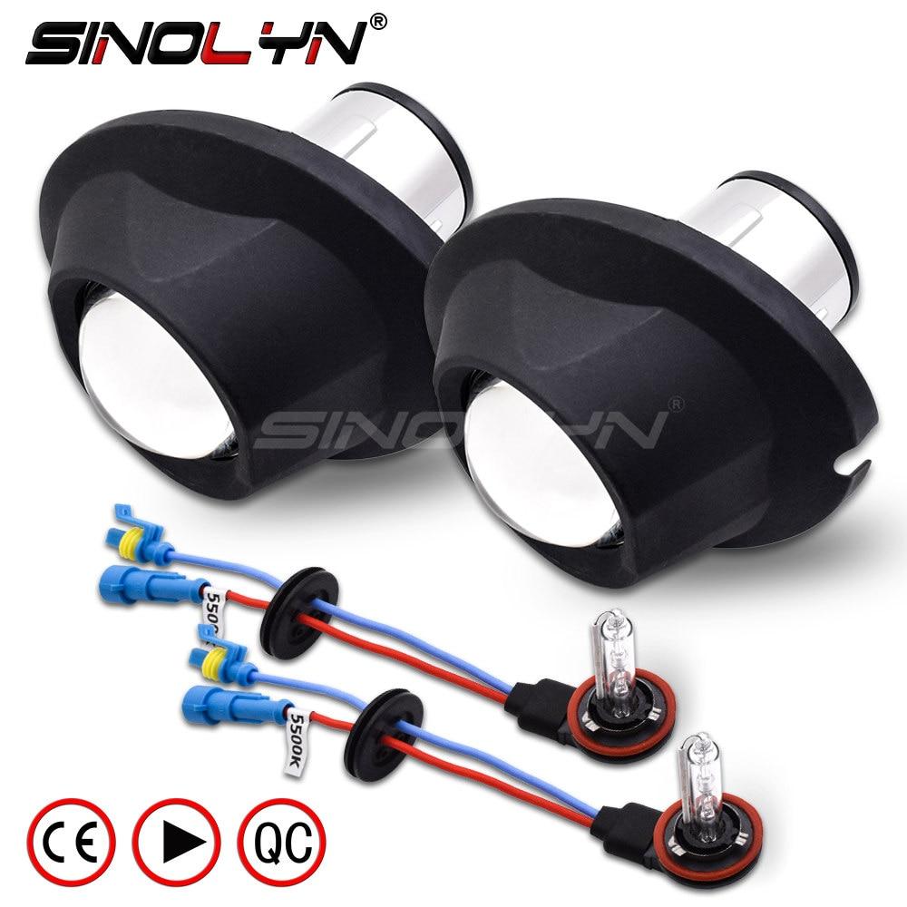 SINOLYN Waterproof Fog Light HID Lamp Car Projector Lens Bixenon Bifocal Driving Retrofit DIY For Toyota RAV4/Land Cruiser DJ200-in Car Light Assembly from Automobiles & Motorcycles    1