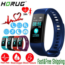 HORUG Smart Watch Sports Fitness Activity Heart Rate Tracker Pedometer Blood Pressure Waterproof Band Wristband For IOS Android