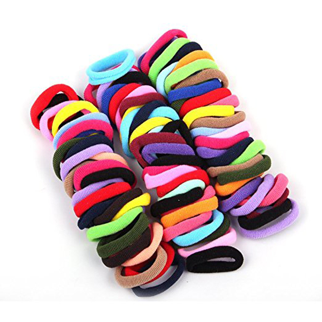 96Pcs Candy Color Elastic Hair Ropes Scrunchies Girls  No Crease Hair Ties  Women Hair Accessories Hair Bands Drop Shipping a0eb1a397f3