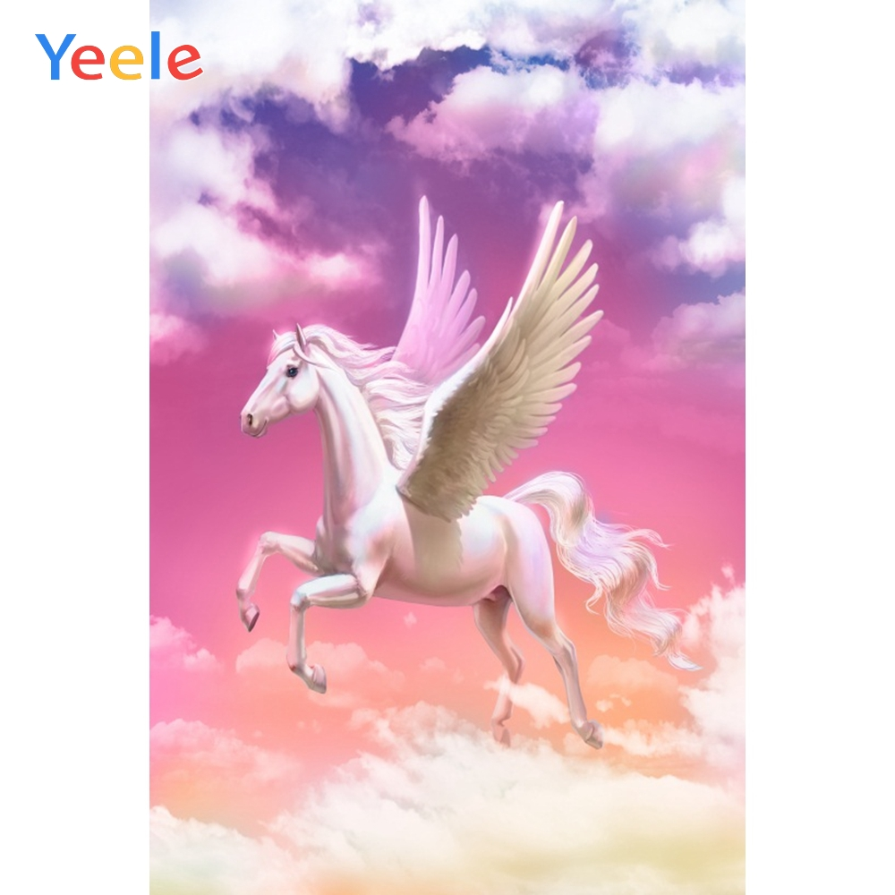 Yeele Photocall Fly Horse Asaka Room Decor Painting Photography Backdrops Personalized Photographic Backgrounds For Photo Studio