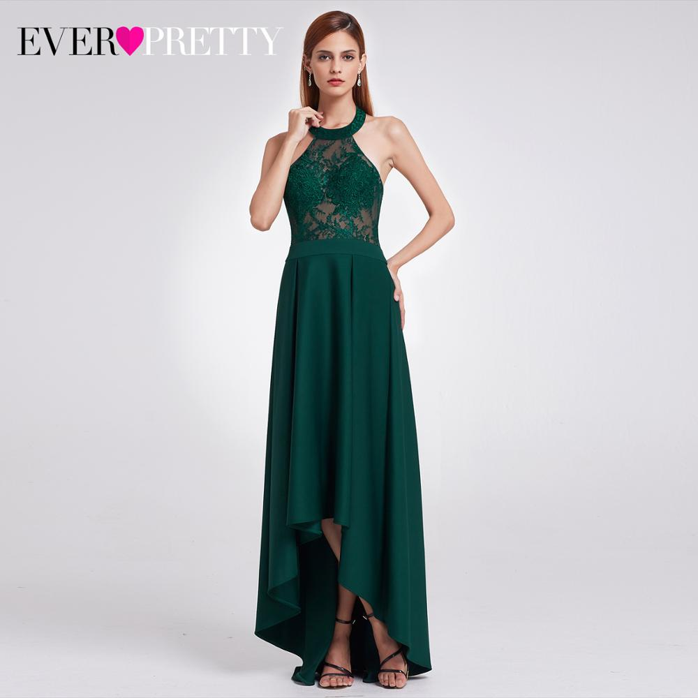 Ever Pretty Long Evening Dress 2019 New Arrival Elegant Halter Backless Mermaid Lace Formal Party Gown Vestito Da Sera EP07188DG