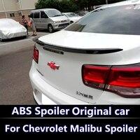 Otomobiller ve Motosikletler'ten Rüzgarlık ve Kanatlar'de 2012 2015 için Chevrolet Malibu Spoiler ABS Malzeme Araba Arka Kanat Astar Renk Arka Spoiler Malibu Için Modifiye spoiler