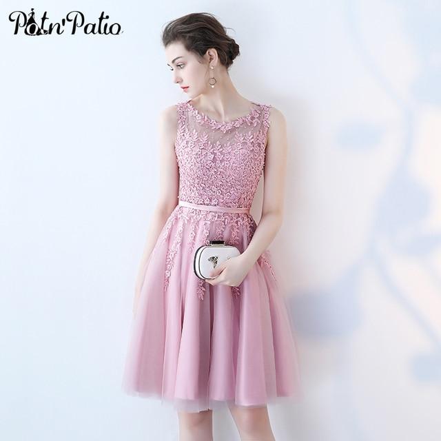 Rose Knee Length Dresses