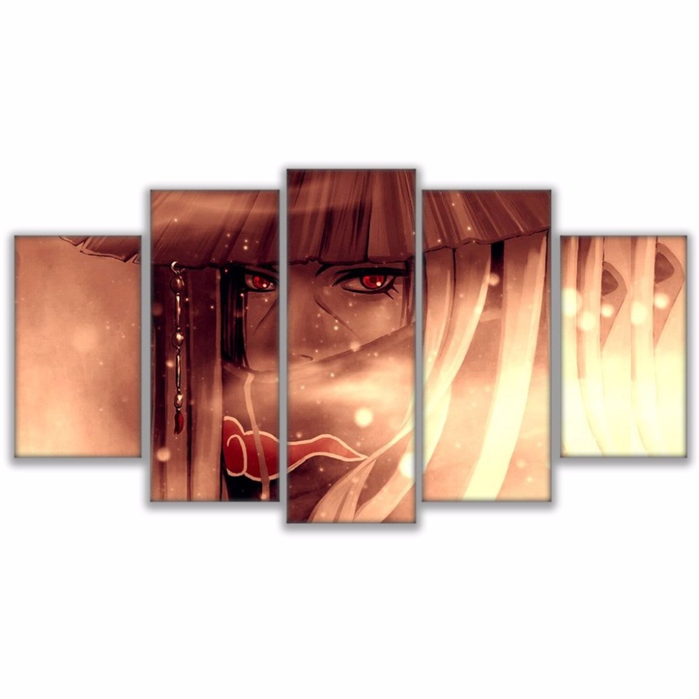 Tableau Itachi Uchiha 4 Mur Art photos d cor la maison pour salon HD imprime Anime affiche encadr e 5