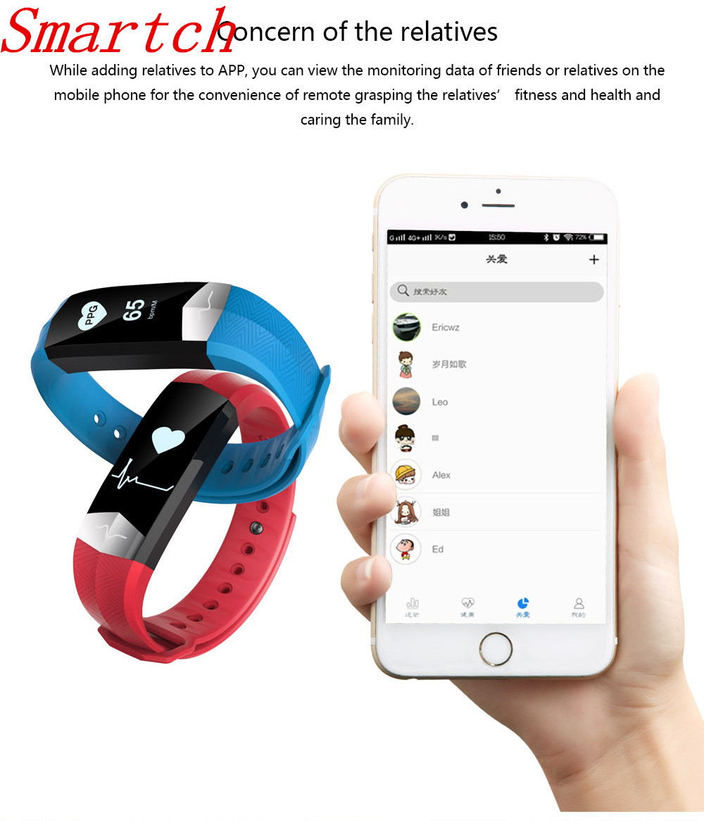 Smartch CD01 Graphene ECG HeartRate Blood Pressure Smart Bracelet for iphone Android Sleep Pedometer Activity Tracker