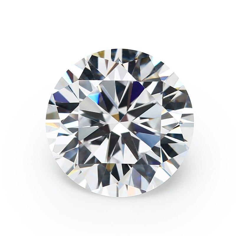 Tamanho 1 a 10mm aaaaa pedra de zircônia cúbica branca, corte redondo, cz solto, pedra para jóias xinyuangems