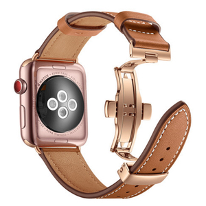 Image 5 - Genuine Cow Leather Watchband for iWatch Apple Watch Series 5 4 3 2 1 38mm 40mm 42mm 44mm Replacement Band Strap Wrist Bracelet