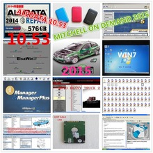 DHL Авто Ремонт Программное обеспечение Alldata 10,53+ mitchell по требованию 5 программное обеспечение 50 в 1 usb жесткий диск все данные