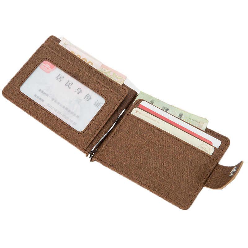 KUDIAN Медведь Лен для мужчин зажим для денег металлический Винтаж бренд кошелек кошельки Дизайнер я клип минималистский мужские бумажники -- BID143 PM49