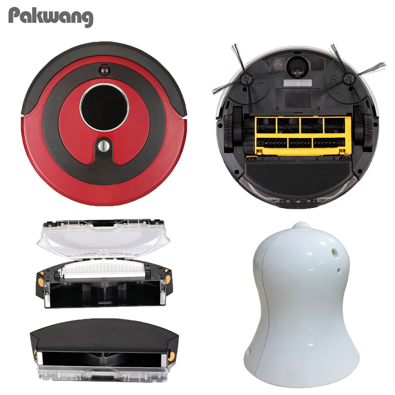 PAKWANG 2018 A380 Robot Vacuum Cleaner For Home Household Sweep With 800Ml Dustbin Self-Charge Vacuum Cleaner Robot Aspirador цена
