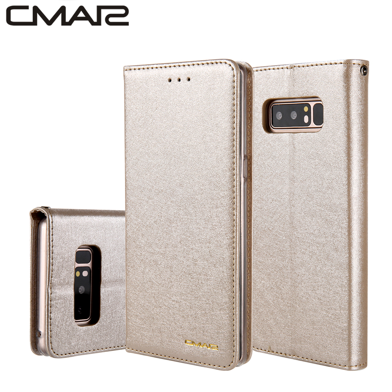 Note 9 Luxury Silk Leather Flip Case Cover for Samsung Galaxy Note 8 PU Leather Wallet Case for Samsung s7 s7 edge S8 S9 plus