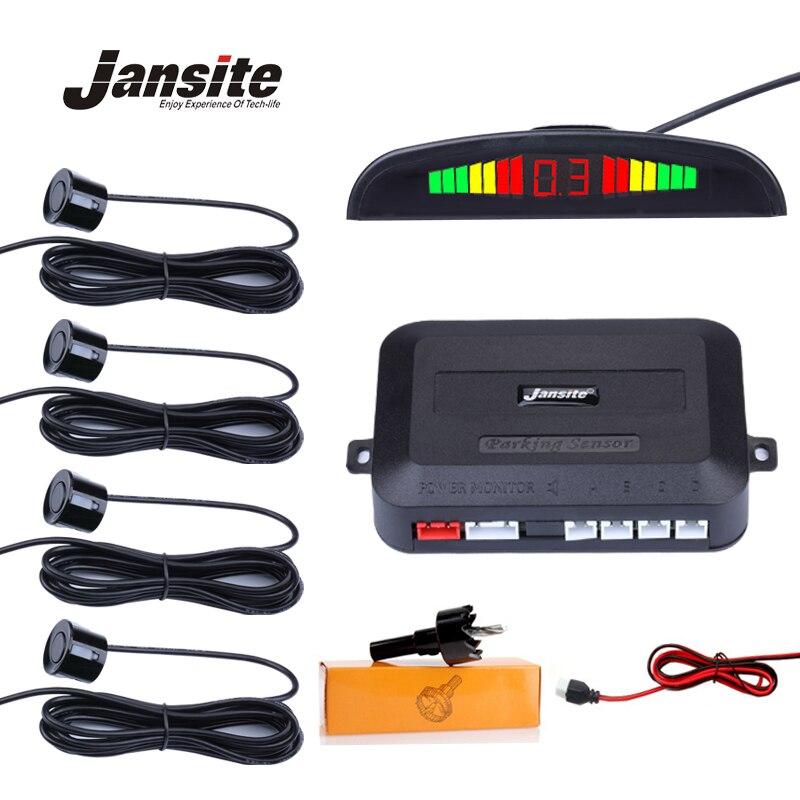 Jansite Universal Car LED Parking location With 4 Sensors Car Reverse Assistance Backup Radar Monitor Detector System Buzzer