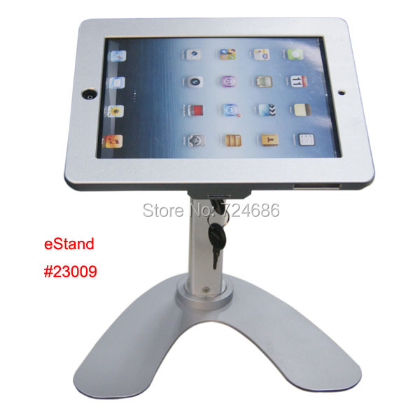 for ipad 2/3/4/air/pro 9.7 table rotation stand security lock housing kiosk POS display on restaurant for menul ordering for ipad 2 3 4 air pro 9 7 table gooseneck lock mount display on restaurant security desktop holder mounting on shop