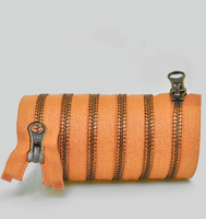 1 adet/grup Kahverengi 5 # fermuar open end fermuar Çift fermuarlı uzun fermuar antik bakır ve demir giyim aksesuarları 70 cm