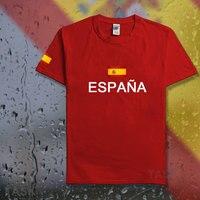 Kingdom of Spain Espana t shirt man 2017 t-shirts cotton nation team cotton meeting fans streetwear fitness ESP Spanish Spaniard