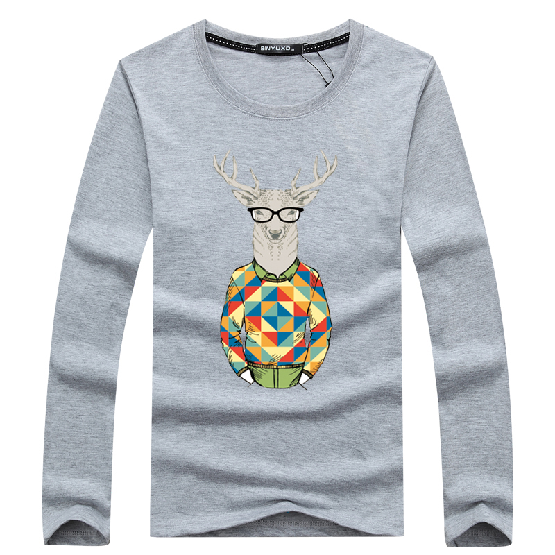 2017 Hohe Qualität Männer Mode Kleidung Einfarbig Langarm T-shirts Männer T-shirt Frühling Lässige Großer Größe T Shirts 5xl Hell In Farbe