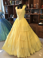 New Version Beauty and the Beast Princess Belle Luxury Dress Million Rhinestones Halloween Fancy Ball Dancing Party Cosplay gfit