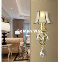 European 100 Copper Color Wall Lamp Single Double Head Hallway Light Bedroom Bronze Glass Wall Sconce