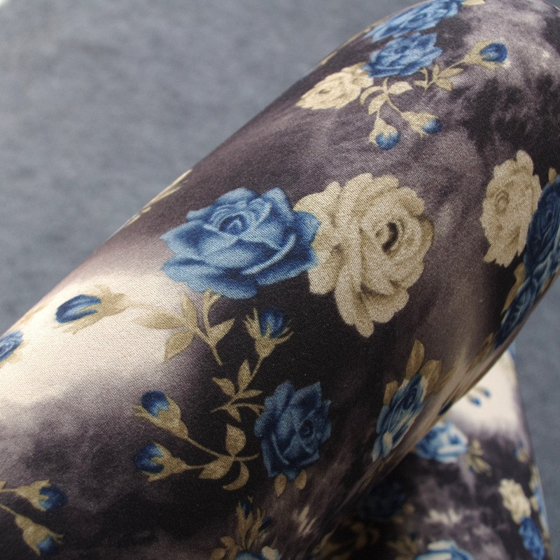BIVIGAOS Spring Summer Womens Fashion Black Milk Thin Stretch leggings Colored Stars Graffiti Slim Skinny Leggings Pants Female 17