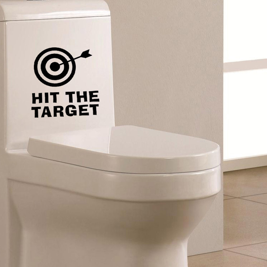 Work Well Home Decoration PVC Stickers Bathroom Toilet Seat Decal Art  Stickers Hit The Target Wall