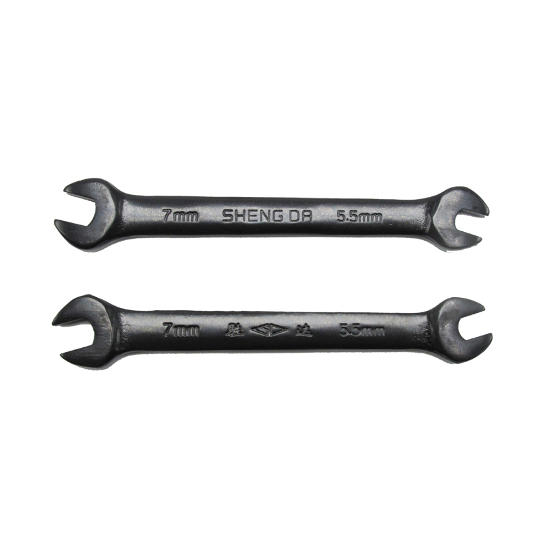 SD Steel Forged Specular Polish Process 5.5-7mm Double Open End Spanner For Demolition And Fastening Hexagonal Nut
