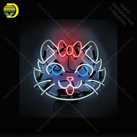 China Cat Neon Sign Glass Tube Handmade neon light Sign Recreation home Bedroom wall Iconic Sign Neon Light Decor Great lamps