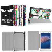 4W PU Leather Case Flip Cover Unique Design Painted Magnetic Stand Cover For Lenovo Tab 3