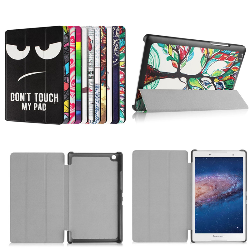 4W PU Leather Case Flip Cover Unique design Painted Magnetic Stand Cover For Lenovo Tab 3 8 8.0 inch TB3-850F TB3-850M Tablet ultra thin smart flip pu leather cover for lenovo tab 2 a10 30 70f x30f x30m 10 1 tablet case screen protector stylus pen