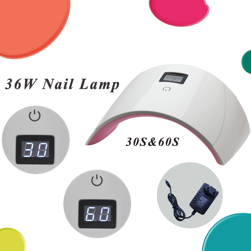 Arte Clavo UV Led Nail Lamp 36W For All Gels 30S 60S Timer Nail Gel Manicure Nail Dryers Automatic Sensor Smart Touch Button