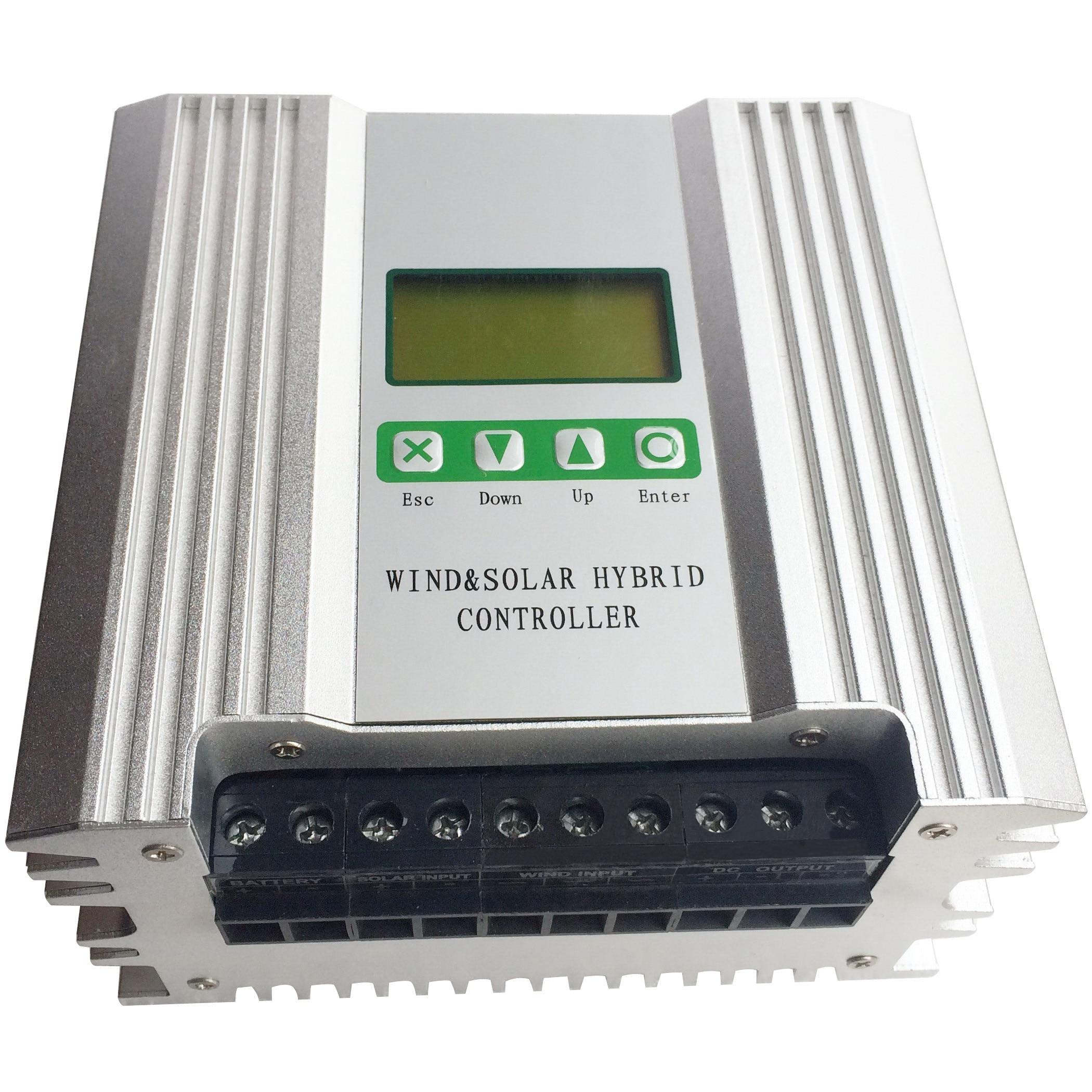 Régulateur hybride solaire de batterie du contrôleur 24V de vent de 2000W Boost MPPT pour les panneaux solaires 1000W et le générateur 1000W d'éolienne