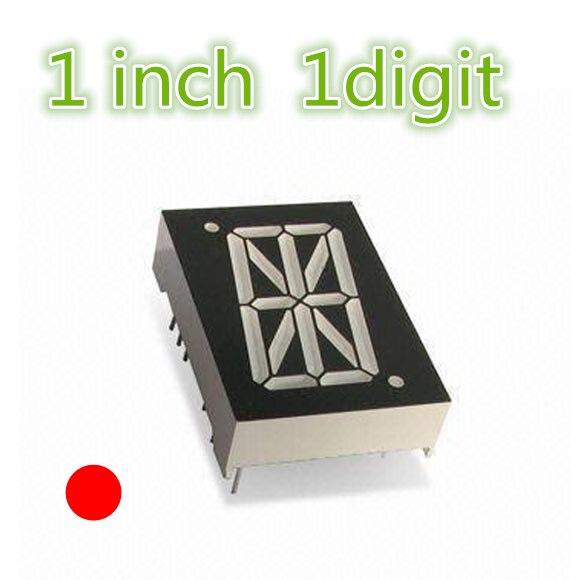 """1 """"1in Led-anzeige Nixie Dip Digital Rohr 1 Zoll Rot 16 Segment 1 Bit Kunststoff Metall Gemeinsame Kathode"""