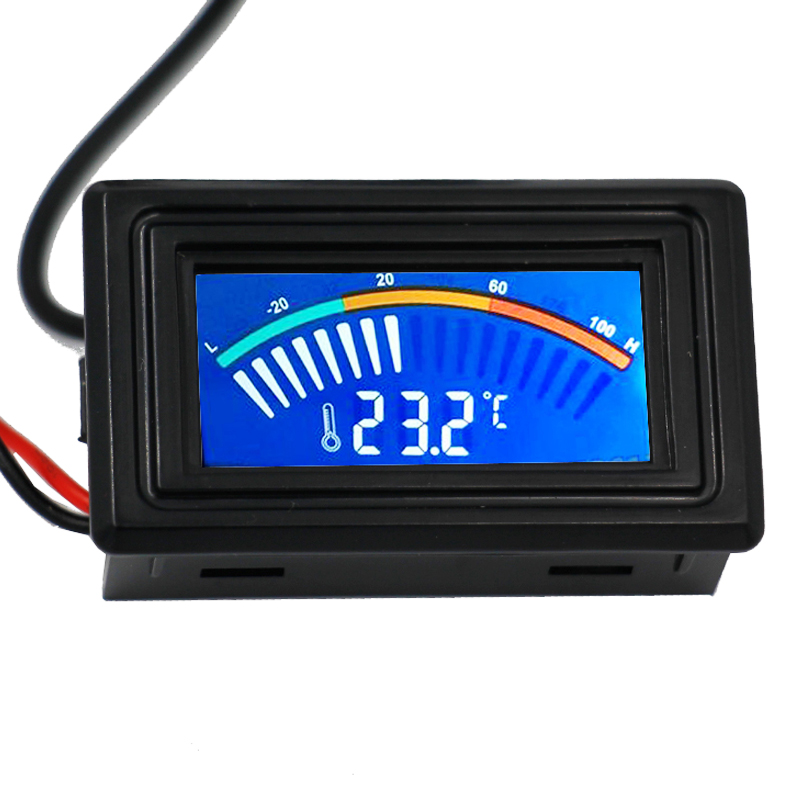 DC 5-25V Digital Pointer Thermometer Temperature Meter With 1 Meter probe Gauge C/F For Computer Car Water Measurement az 8891 digital wall mounted waterproof thermometer w long probe boiler water temperature meter tester